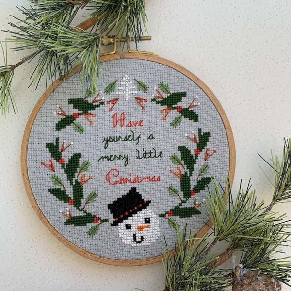 The Geeky Stitching Co snowman christmas design