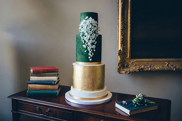 The Cake Professionals' three tier wedding cake