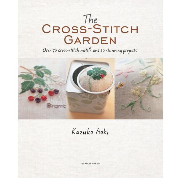 The cross-stitch garden book cover