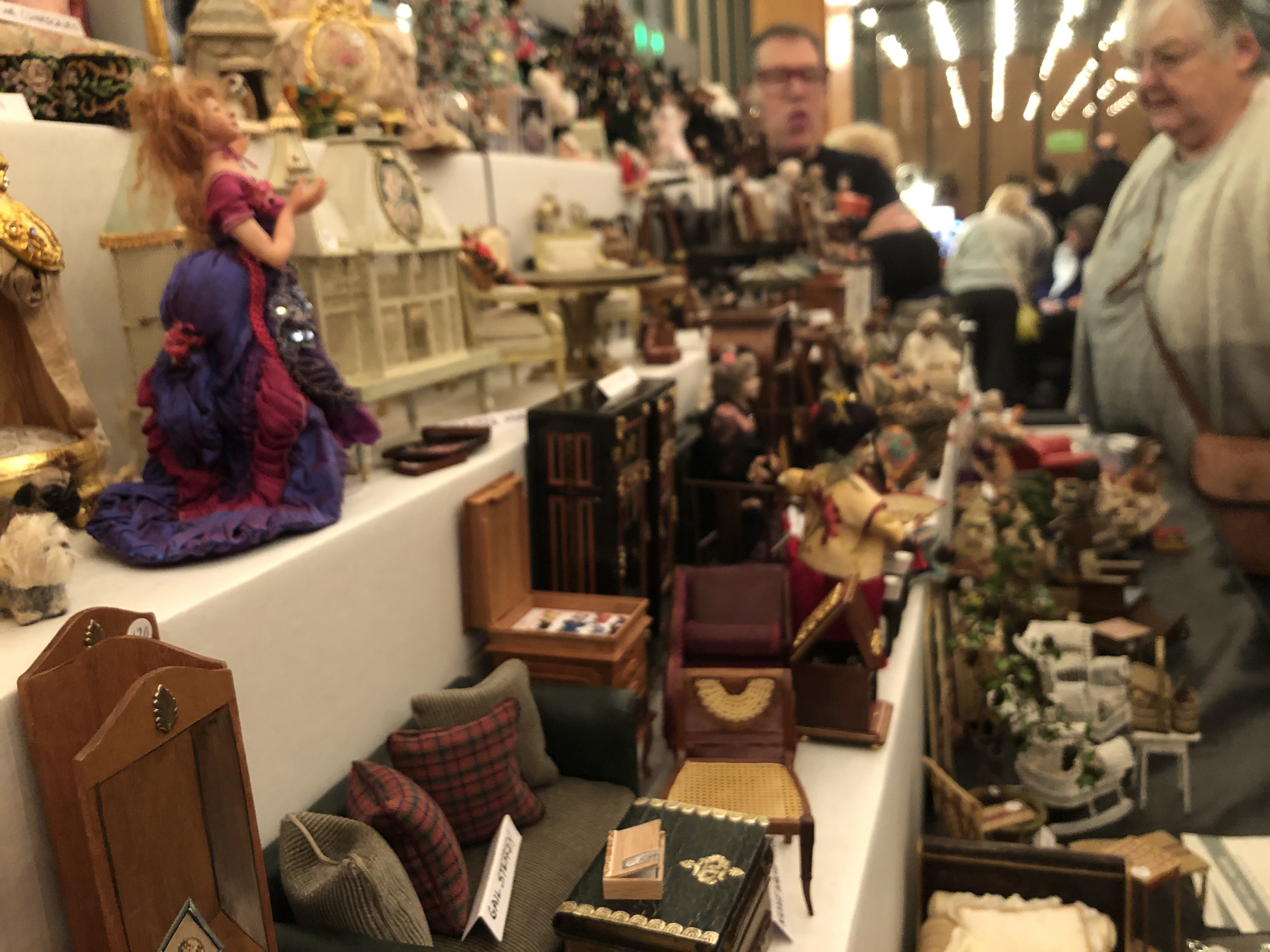 Tiny dolls house furniture show stand