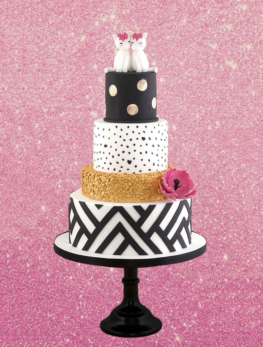 Tracey Rothwell mixed colours black cake