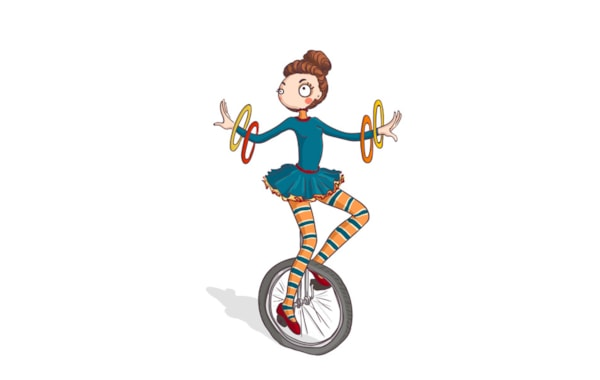 Unicyclist digi stamp