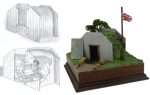 How to make a miniature Anderson shelter