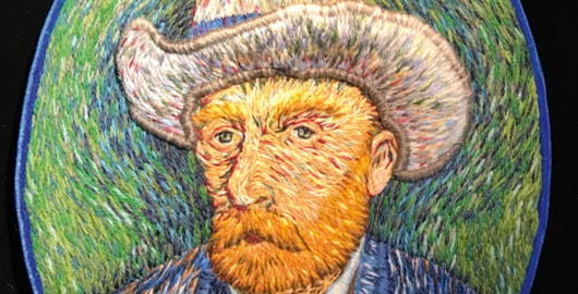 Van Gogh hand embroidery by Catherine Hicks