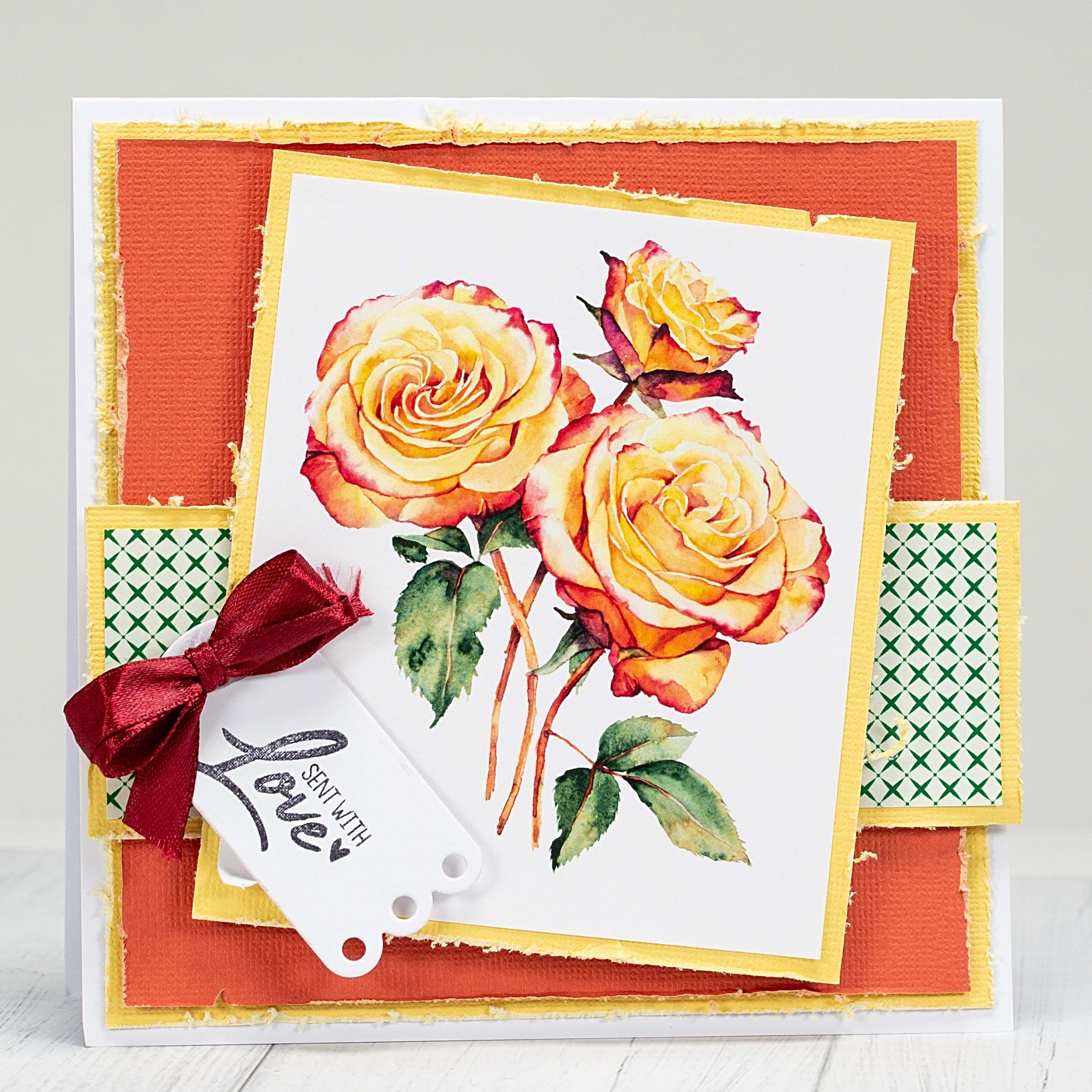 Flower card making ideas: scent with love