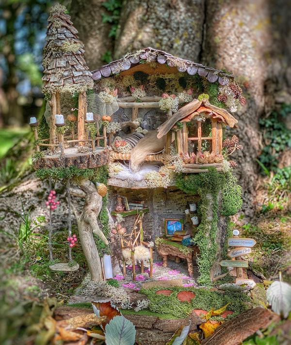 Whisper Lodge fairy house by Gemma Harris