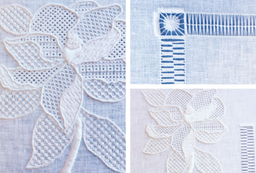 Whitework embroidery by Lauren Yaeger