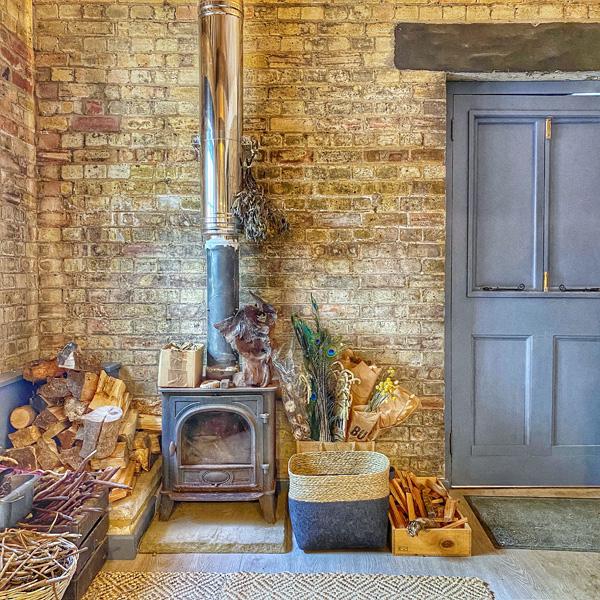 Gemma Harris' workhouse with wood burner