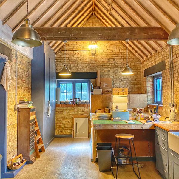 Gemma Harris' workshop/outhouse