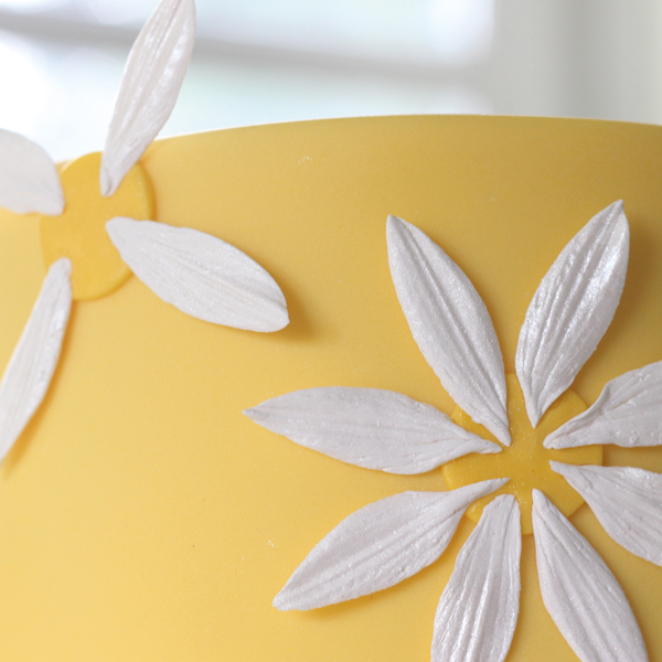 attaching-sugarpaste-daisies