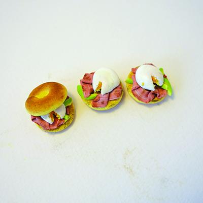 Assembled miniature bagels
