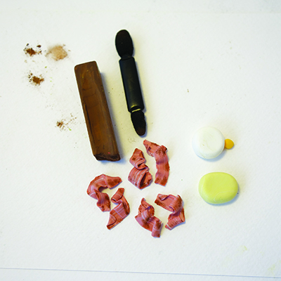 Polymer clay fried bacon