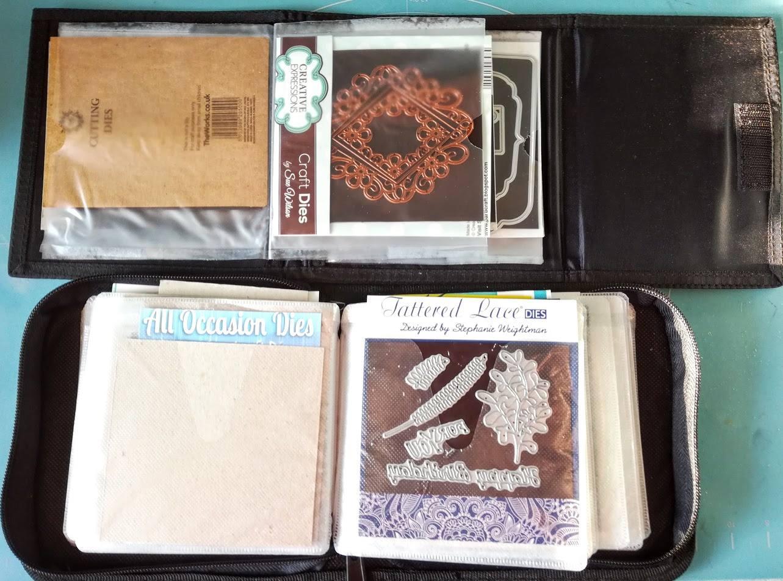 have repurposed some old CD storage wallets to keep my dies organised