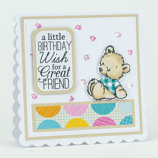 birthday wish diy teddy bear card