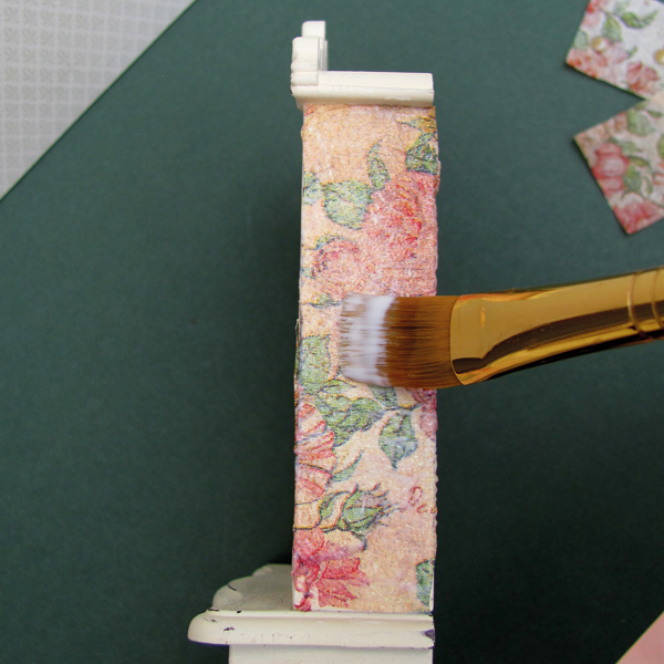 brushing-glue-on-miniature-furniture-decoupage