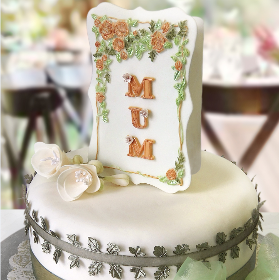 Mother's Day card cake
