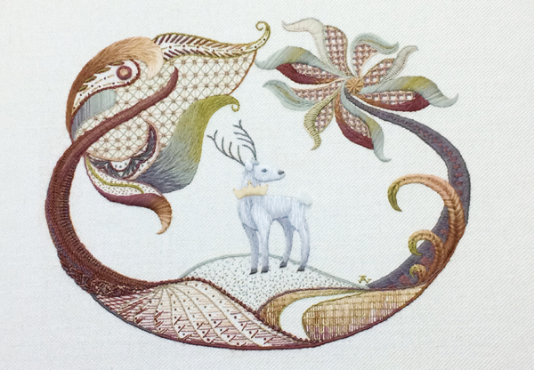crewelwork by Jen Goodwin