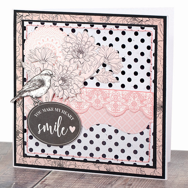 cross stitch card using backstitch