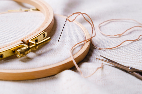 embroidery hoop needle thread
