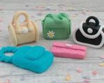 fondant handbag cake toppers