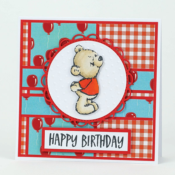 happy birthday diy teddy bear card