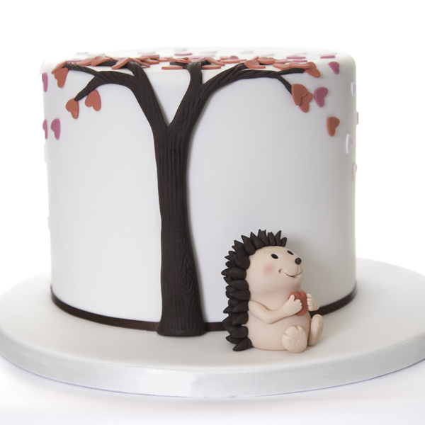 hedgehog-sugarpaste-icing-cake