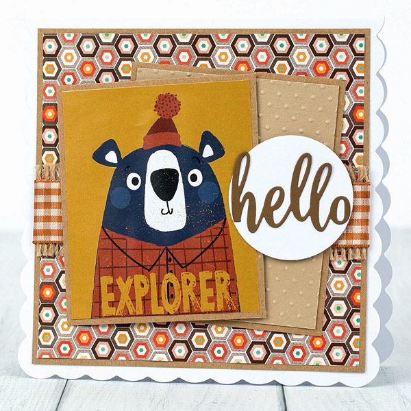 bear explorer - DIY card for him