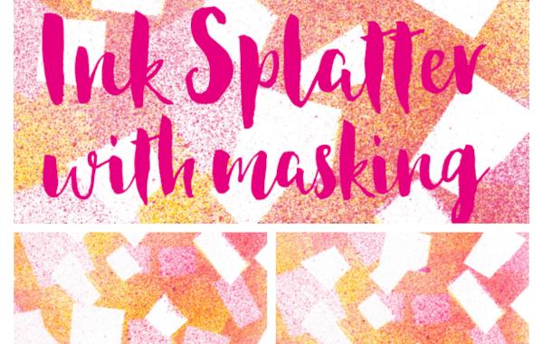 ink splatter art background
