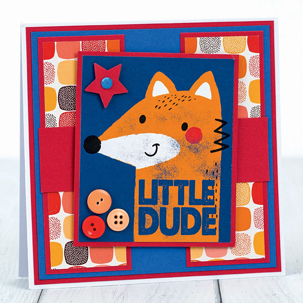 Little dude fox - DIY card for him