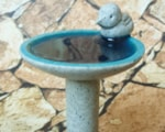 miniature bird bath using polymer clay