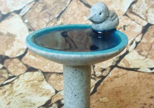 miniature bird bath using polymer clay
