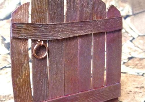 miniature gate in copper art clay
