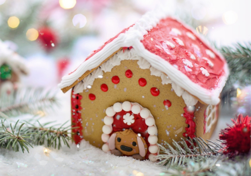miniature gingerbread house template