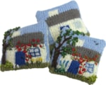 miniature-knitted-intarsia-cottage-cushions-set
