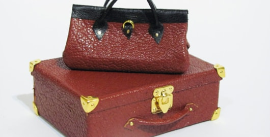 miniature leather suitcase and bag tutorial