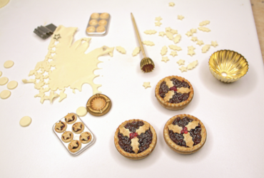 miniature mince pies polymer clay