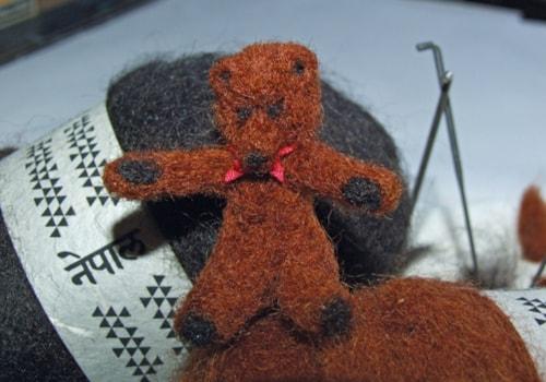 miniature-needle-felted-teddy-bear