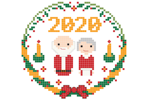 santa and mrs claus 2020 crossstitcher design by stitch people