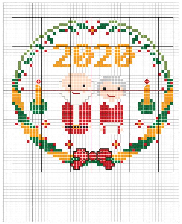 santa and mrs claus 2020 crossstitcher download stitch people