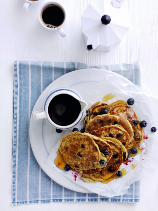 Gluten Free Blueberry and Yoghurt American Pancakes