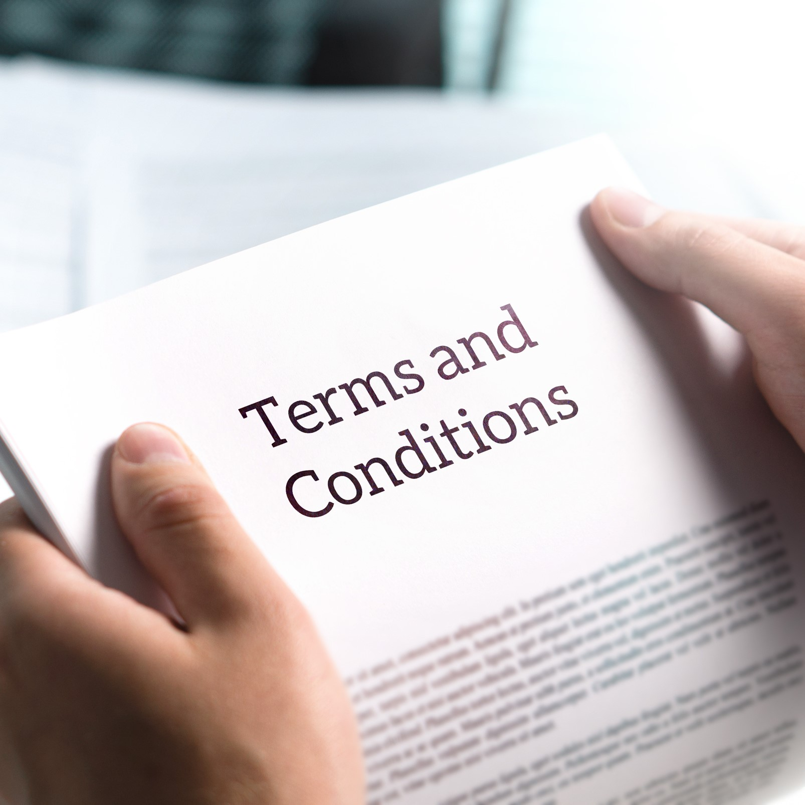 Terms and conditions legal