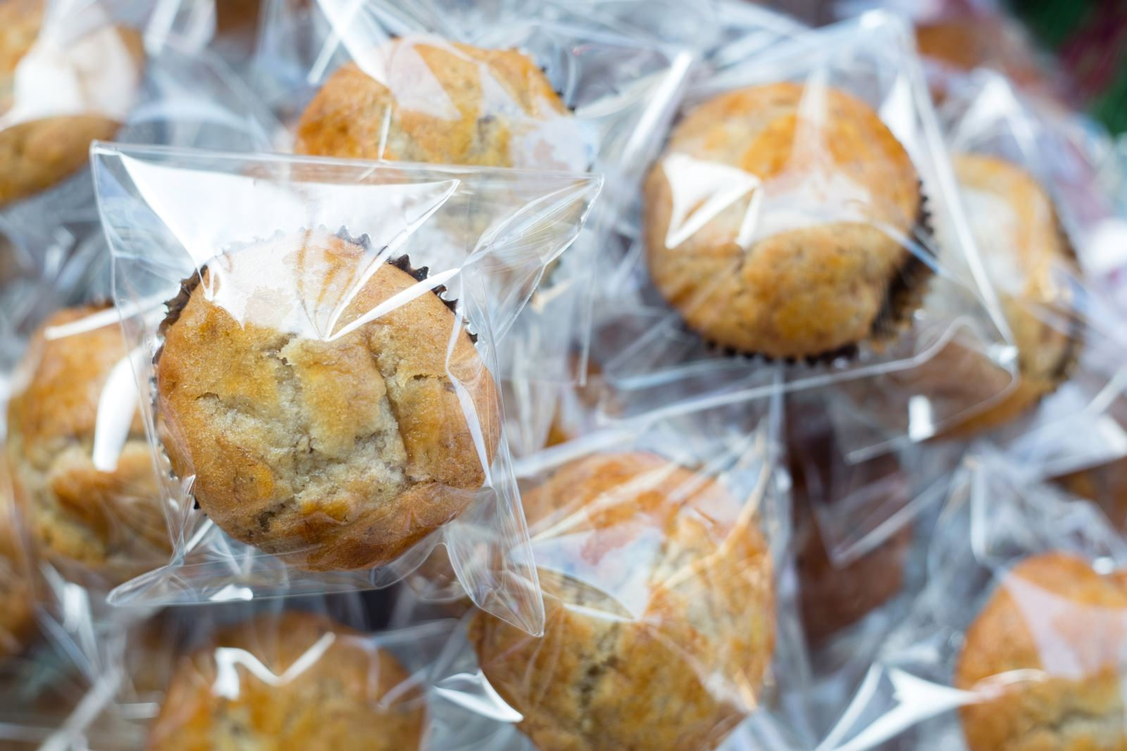 bagged cupcakes ready for freezer