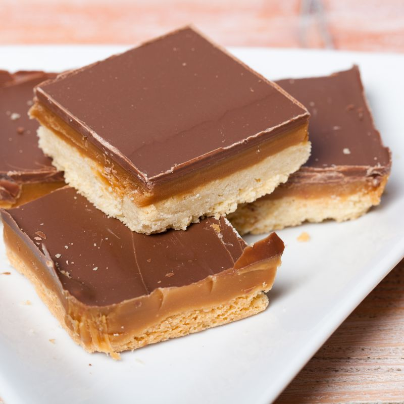 Mother's Day biscuit ideas millionaire's shortbread