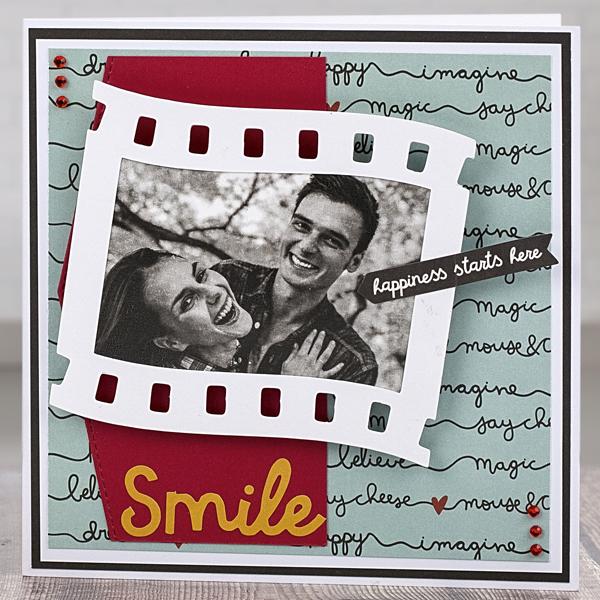 'Smile' Valentine's Day card
