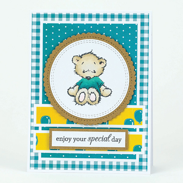 special day teddy bear card