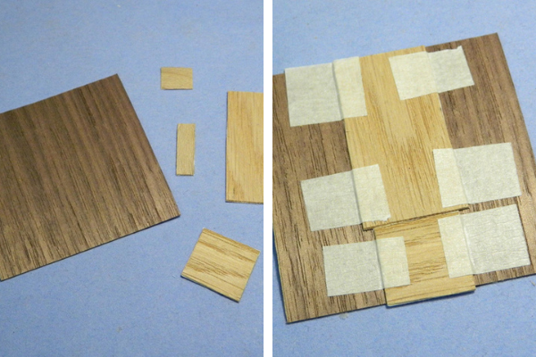 wood inlay pieces
