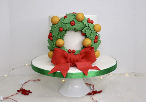 wreath Christmas cake tutorial