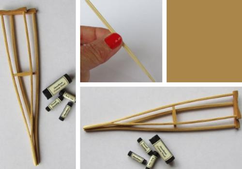 ww1 miniature military crutches