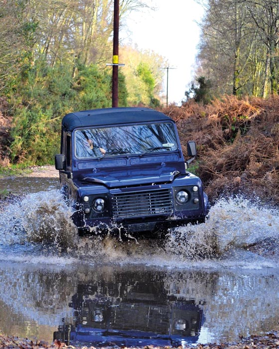 Defender in the water