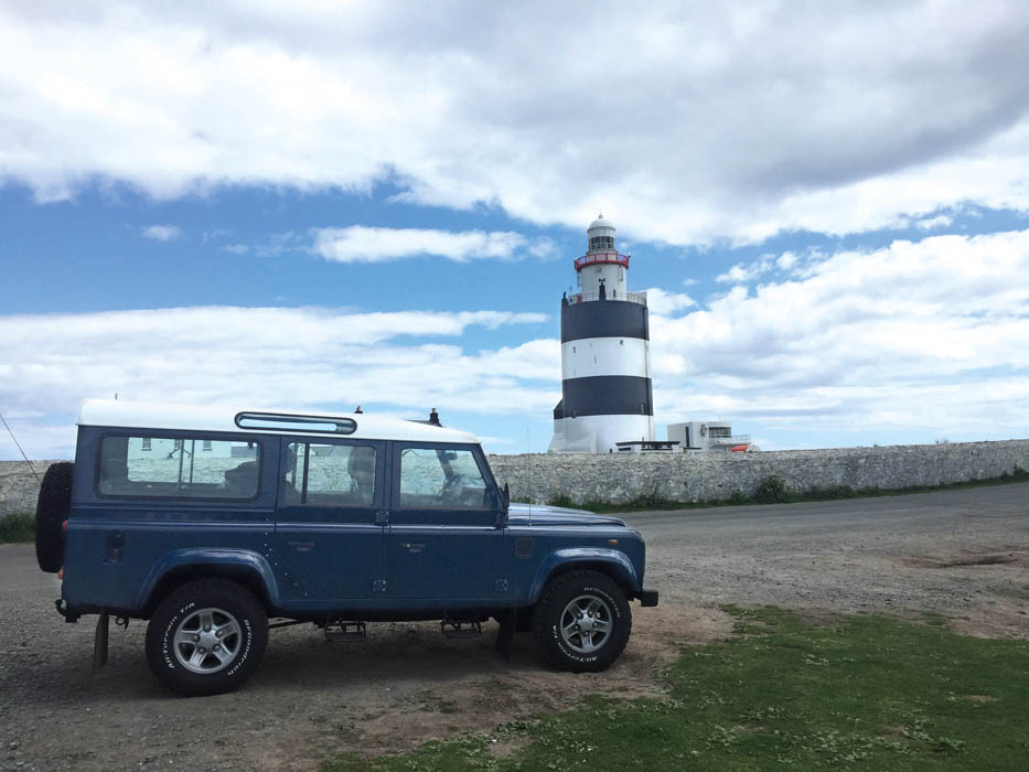 Defender on the Irish Coast